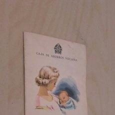 Documentos bancarios: CAJA DE AHORROS VIZCAINA. LIBRETA DE NACIMIENTO. AÑO 1961.. Lote 97161084