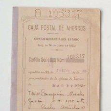 Documentos bancarios: ANTIGUA LIBRETA DE LA CAJA POSTAL. AÑO 1935. Lote 97729315