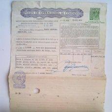 Documentos bancarios: 630 SELLOS POLIZA OPERACIONES CONTADO, BANCO HISPANO AMERICANO, BANCO DE VALLS, BOLSA BARCELONA 1968. Lote 97742147