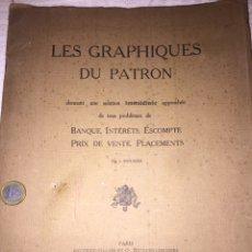 Documentos bancarios: LES GRAPHIQUES DU PATRON PARÍS 1920. Lote 98029376