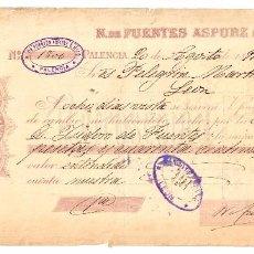 Documentos bancarios: LETRA DE CAMBIO ALMACÉN DROGAS PRODUCTOS QUÍMICOS FARMACIA NATALIO ASPURZ E HIJO PALENCIA 1891. Lote 98620375