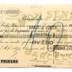 Documentos bancarios: LETRA DE CAMBIO FABRICA DE TEJIDOS DE ALGODON RAMON SENESTEVA CARDEDEU Y MANLLEU. BARCELONA AÑO 1929. Lote 98620691