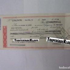 Documentos bancarios: CHEQUE TALON O PAGARÉ BANCARIO FECHADO EN LOGROÑO NOVIEMBRE 1969. BANCO ESPAÑOL DE CREDITO. TDKP12. Lote 98635675