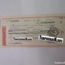 Documentos bancarios: CHEQUE TALON O PAGARÉ BANCARIO FECHADO EN LOGROÑO AGOSTO 1966. BANCO ESPAÑOL DE CREDITO. TDKP12. Lote 98635711