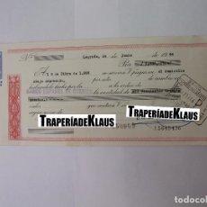 Documentos bancarios: CHEQUE TALON O PAGARÉ BANCARIO FECHADO EN LOGROÑO DICIEMBRE 1966. BANCO ESPAÑOL DE CREDITO. TDKP12. Lote 98635775