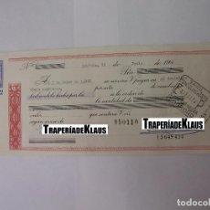 Documentos bancarios: CHEQUE TALON O PAGARÉ BANCARIO FECHADO EN LOGROÑO OCTUBRE 1966. BANCO ESPAÑOL DE CREDITO. TDKP12. Lote 98635787