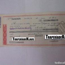 Documentos bancarios: CHEQUE TALON O PAGARÉ BANCARIO FECHADO EN LOGROÑO AGOSTO 1967 BANCO ESPAÑOL DE CREDITO. TDKP12. Lote 98635795