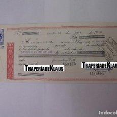 Documentos bancarios: CHEQUE TALON O PAGARÉ BANCARIO FECHADO EN LOGROÑO EN JUNIO DE 1964. BANCO ESPAÑOL DE CREDITO. TDKP12. Lote 98635811