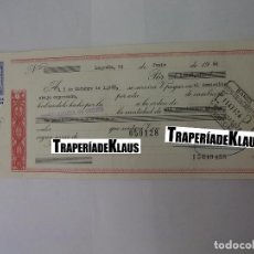 Documentos bancarios: CHEQUE TALON O PAGARÉ BANCARIO FECHADO EN LOGROÑO OCTUBRE 1968. BANCO ESPAÑOL DE CREDITO. TDKP12. Lote 98635827