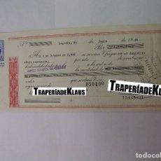 Documentos bancarios: CHEQUE TALON O PAGARÉ BANCARIO FECHADO EN LOGROÑO EN OCTUBRE 1969. BANCO ESPAÑOL DE CREDITO. TDKP12. Lote 98635887