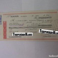 Documentos bancarios: CHEQUE TALON O PAGARÉ BANCARIO FECHADO EN LOGROÑO NOVIEMBRE 1970. BANCO ESPAÑOL DE CREDITO. TDKP12. Lote 98635943