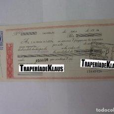 Documentos bancarios: CHEQUE TALON O PAGARÉ BANCARIO FECHADO EN LOGROÑO MARZO 1970. BANCO ESPAÑOL DE CREDITO. TDKP12. Lote 98635971