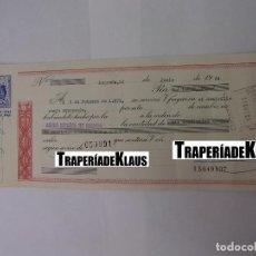 Documentos bancarios: CHEQUE TALON O PAGARÉ BANCARIO FECHADO EN LOGROÑO FEBRERO 1971. BANCO ESPAÑOL DE CREDITO. TDKP12. Lote 98636003