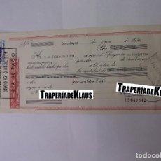 Documentos bancarios: CHEQUE TALON O PAGARÉ BANCARIO FECHADO EN LOGROÑO EN JULIO DE 1971. BANCO ESPAÑOL DE CREDITO. TDKP12. Lote 98636039