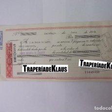 Documentos bancarios: CHEQUE TALON O PAGARÉ BANCARIO FECHADO EN LOGROÑO EN MARZO DE 1972. BANCO ESPAÑOL DE CREDITO. TDKP12. Lote 98636115