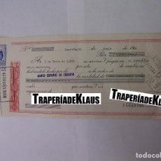 Documentos bancarios: CHEQUE TALON O PAGARÉ BANCARIO FECHADO EN LOGROÑO EN ENERO DE 1972. BANCO ESPAÑOL DE CREDITO. TDKP12. Lote 98636163