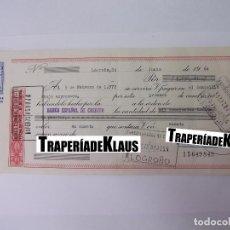 Documentos bancarios: CHEQUE TALON O PAGARÉ BANCARIO FECHADO EN LOGROÑO FEBRERO 1972. BANCO ESPAÑOL DE CREDITO. TDKP12. Lote 98636195