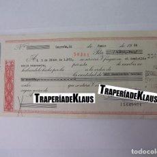 Documentos bancarios: CHEQUE TALON O PAGARÉ BANCARIO FECHADO EN LOGROÑO DICIEMBRE 1973. BANCO ESPAÑOL DE CREDITO. TDKP12. Lote 98636211