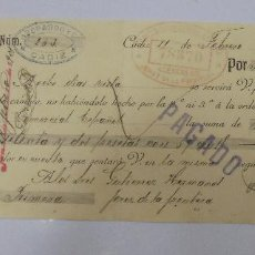 Documentos bancarios: LETRA DE CAMBIO. AZOPARDO & CIA. CADIZ. 1908. Lote 99345919