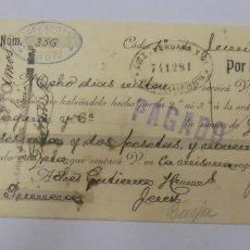 Documentos bancarios: LETRA DE CAMBIO. AZOPARDO & CIA. CADIZ. 1908. Lote 99346263
