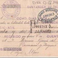 Documentos bancarios: LETRA DE CAMBIO AÑO 1930. Lote 99795987