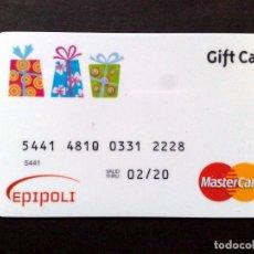 Documentos bancarios: TARJETA MASTERCARD-GIFT CARD EPIPOLI,USADA.. Lote 101205067