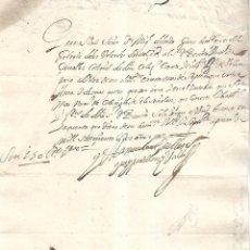 Documentos bancarios: PAGARE. VALLADOLID. 150 REALES DE VELLON. 1702. VER. Lote 101280451
