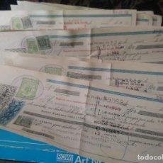 Documentos bancarios: LOTE DE ANTIGUAS 28 LETRAS DE CAMBIO BANCO HISPANO AMERICANO.. Lote 101370799