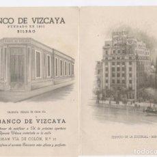 Documentos bancarios: TRÍPTICO BANCO DE VIZCAYA, SE DESCONOCE AÑO . Lote 101747907