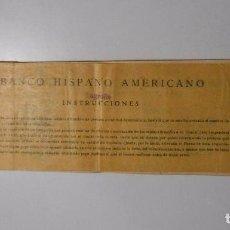 Documentos bancarios: TALONARIO DEL BANCO HISPANO AMERICANO. LOGROÑO. AÑOS 30. 1935 - 1936. TDKP2. Lote 101923379