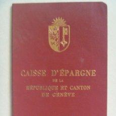Documentos bancarios: CARTILLA DE BANCO DE LA REPUBLICA Y CANTON DE GENEVE ( SUIZA ) DE FAMILIA ESPAÑOLA, AÑOS 70. Lote 102948859