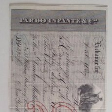 Documentos bancarios: 1864 * LOTE DE 3 LETRAS DE CAMBIO * CUBA A NEW YORK WALL STREET. Lote 103214891