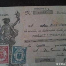 Documentos bancarios: F.VERDEJO BORRAS-MANISES-LETRA CAMBIO,SEYDOUX S.A.-1935. Lote 103477983