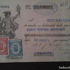 Documentos bancarios: F.VERDEJO BORRAS-MANISES-LETRA CAMBIO,EUGENIO ARACIL PASCUAL-ALCOY.-1935. Lote 103478179