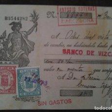 Documentos bancarios: F.VERDEJO BORRAS.MANISES-LETRA CAMBIO,ANTONIO SOTERAS .-1935. Lote 103478679