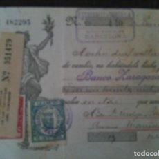 Documentos bancarios: F.VERDEJO BORRAS-MANISES -LETRA CAMBIO,ESTABANELL Y PAHISA ,BARCELONA .-1935. Lote 103478875