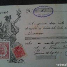 Documentos bancarios: F.VERDEJO BORRAS-MANISES--LETRA CAMBIO,BAUTISTA PENALBA TOMAS,BUFALIT VALENCIA .-1934. Lote 103479547