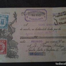 Documentos bancarios: F-VERDEJO BORRAS-MANISES-LETRA CAMBIO,JOSE DOMINGO PURROY .-1934. Lote 103479671