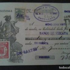 Documentos bancarios: F.VERDEJO BORRAS-MANISES-LETRA CAMBIO,FABRICA DE TEJIDOS,JOSE BALIANA DONAT,ONTENIENTE .-1934. Lote 103479919