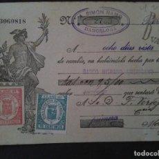 Documentos bancarios: F.VERDEJO BORRAS-MANISES-LETRA CAMBIO,SIMON RAMO,BARCELONA .-1933. Lote 103480651