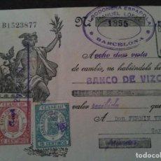 Documentos bancarios: F.VERDEJO BORRAS-MANISES -LETRA CAMBIO,ALGODONERA ESPAÑOLA, ,BARCELONA .-1933. Lote 103481123