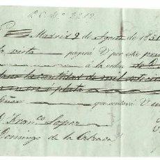 Documentos bancarios: LETRA DE CAMBIO DE 1850 BURGOS - SANTO DOMINGO DE LA CALZADA. Lote 103648227