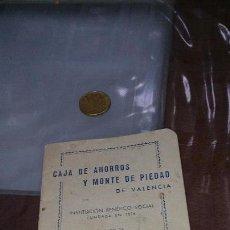 Documentos bancarios: LIBRETA CAJA DE AHORROS Y MONTE DE PIEDAD VALENCIA 1958. Lote 104371859