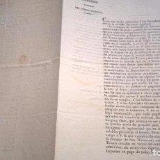 Documentos bancarios: ORDEN DE LA DIRECCIÓN GENERAL DEL TESORO PÚBLICO. 1838. Lote 104515015