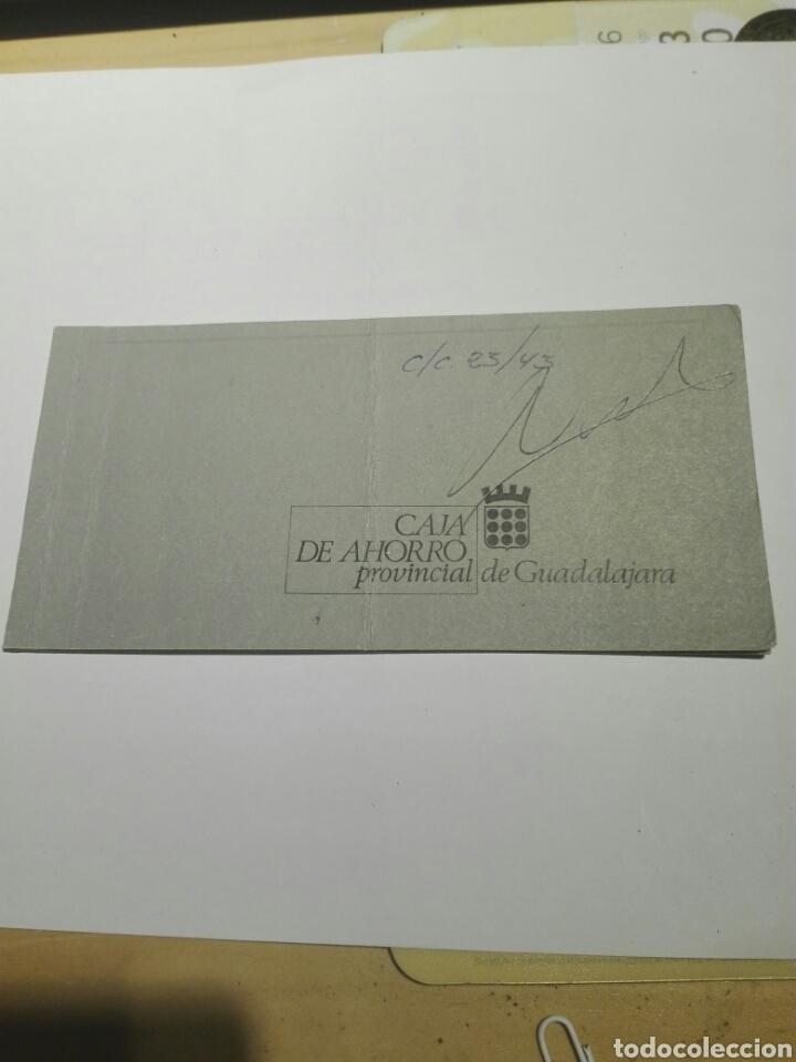 DOCUMENTO TALONARIO CHEQUES CAJA AHORRO GUADALAJARA 1975 (Coleccionismo - Documentos - Documentos Bancarios)