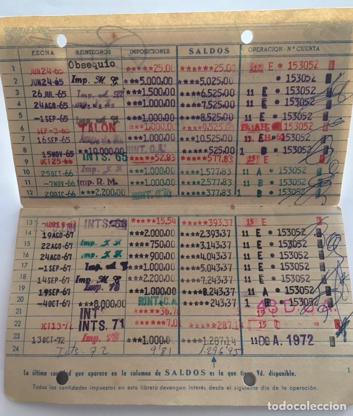 Documentos bancarios: LIBRETA CAJA DE AHORROS Y MONTE DE PIEDAD. VALENCIA. 1965. - Foto 3 - 105333216