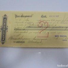 Documentos bancarios: LETRA DE CAMBIO. BANCO COMERCIAL. CALI, COLOMBIA. 1917. Lote 105399611