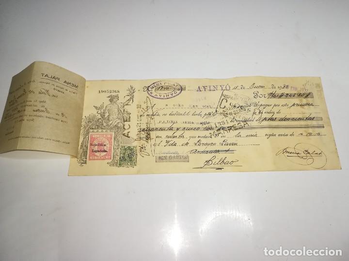 Documentos bancarios: LETRA DE CAMBIO BANCO HISPANO AMERICANO MANRESA. 15 ENERO 1932. - Foto 2 - 106667879