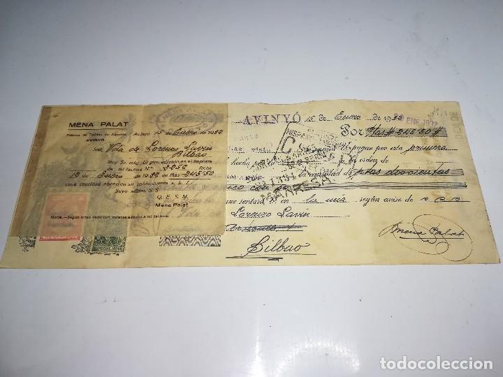Documentos bancarios: LETRA DE CAMBIO BANCO HISPANO AMERICANO MANRESA. 15 ENERO 1932. - Foto 3 - 106667879