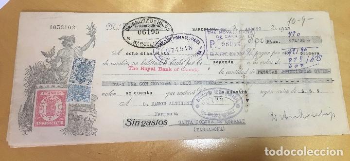 AÑO 1927. PAGARÉ. RARO Y BONITO DOCUMENTO. ESPAÑOL. (Coleccionismo - Documentos - Documentos Bancarios)